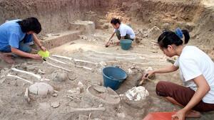 Imagen del yacimiento arqueológico donde se ha encontrado el extraño objeto