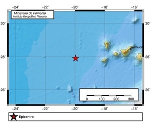 Terremoto de magnitud 5,7 al oeste de las Islas Canarias