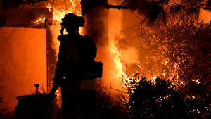 Imagen de los incendios de California
