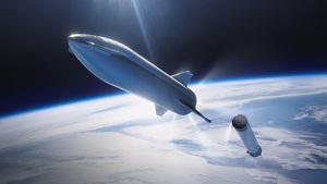Recreación de la nave Starship de SpaceX