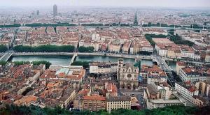 Vista aérea de Lyon, la ciudad que ha percibido más el temblor de 5,4