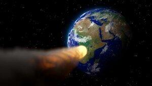Imagen ilustrativa del acercamiento de un asteroide contra la Tierra