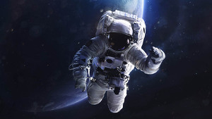Astronaut out in space