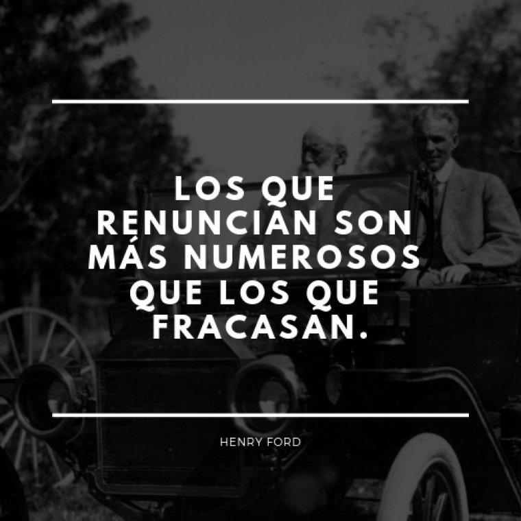 Frase de Henry Ford.