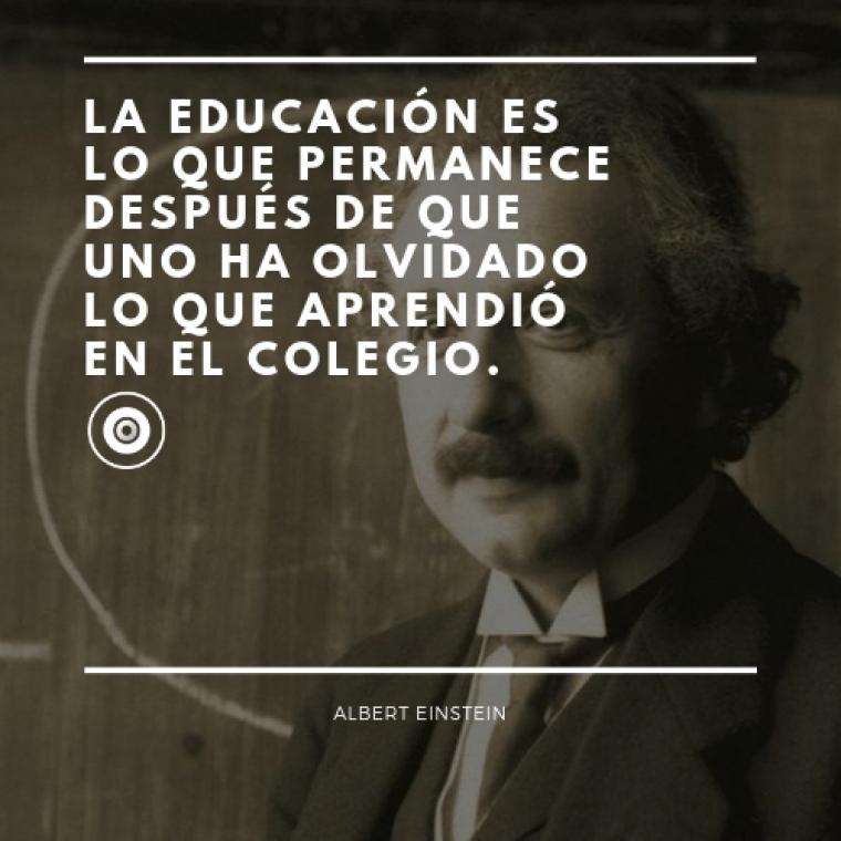 Frases de Albert Einstein.
