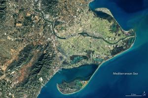 El Delta de l'Ebre, des del satèl·lit