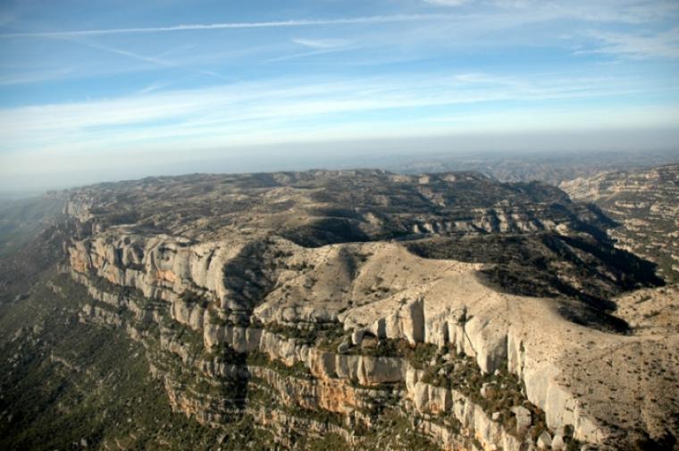 Panoràmica del Montsant des de la Serra Major