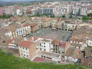 Plaça del Mercadal a Balaguer, la capital de comarca