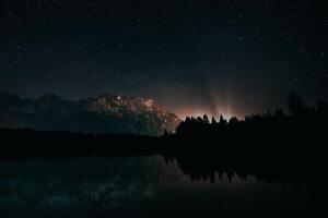 Photo de ciel étoilé la nuit