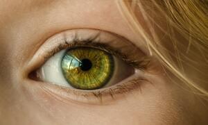 Oeil vert d'une fille