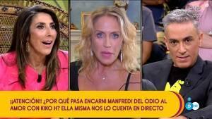 El cara a cara en directo entre Paz Padilla, Encarni Manfredi y Kiko Hernández