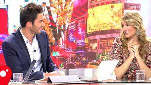 Santi Burgoa y Alba Carrillo durante su etapa en 'Ya es mediodía'