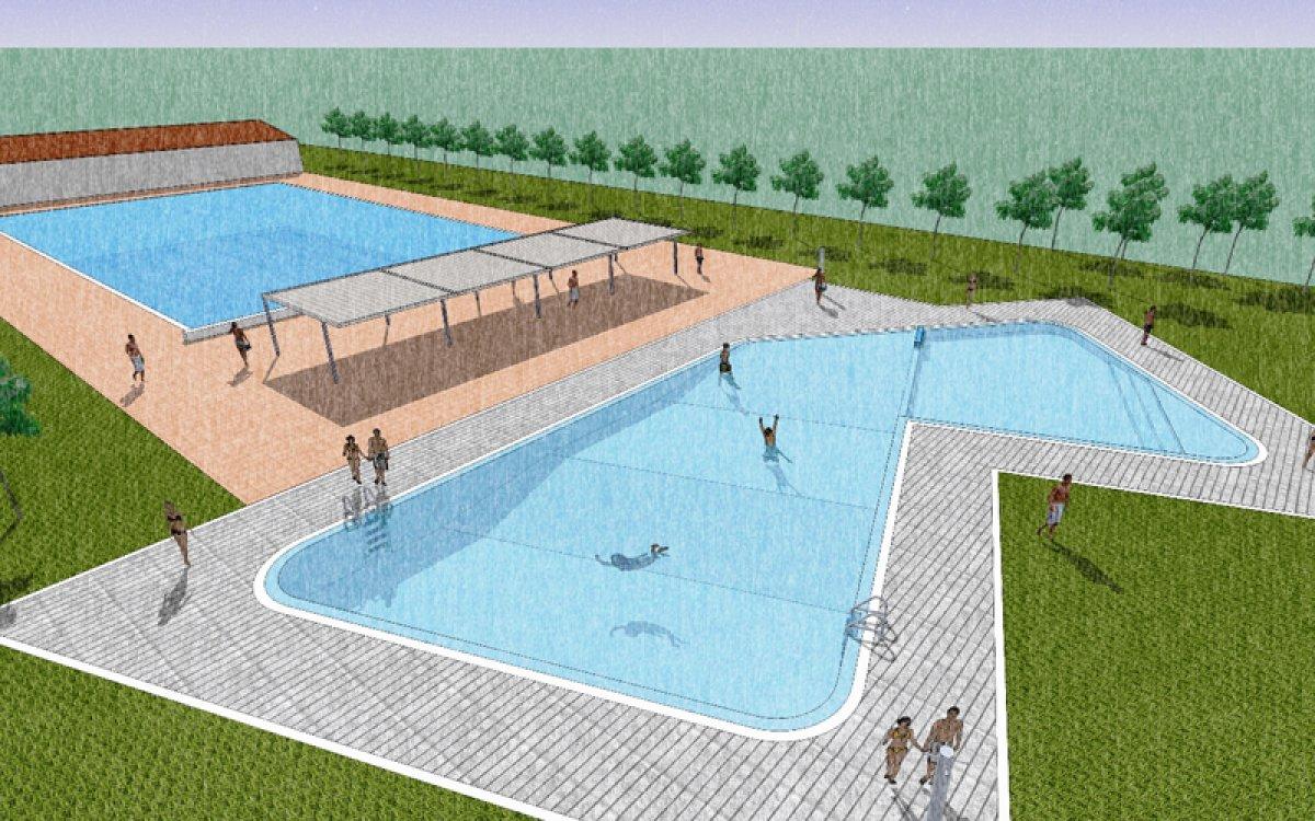 Comencen les obres de la nova piscina de les borges for En la piscina
