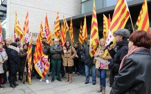 Concentració a Lleida en defensa de l'ocupació, els salaris i les pensions