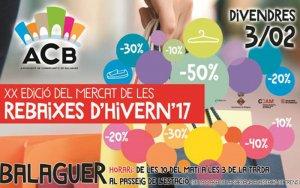 El 20è Mercat de Rebaixes de Balaguer reunirà aquest divendres una trentena de parades