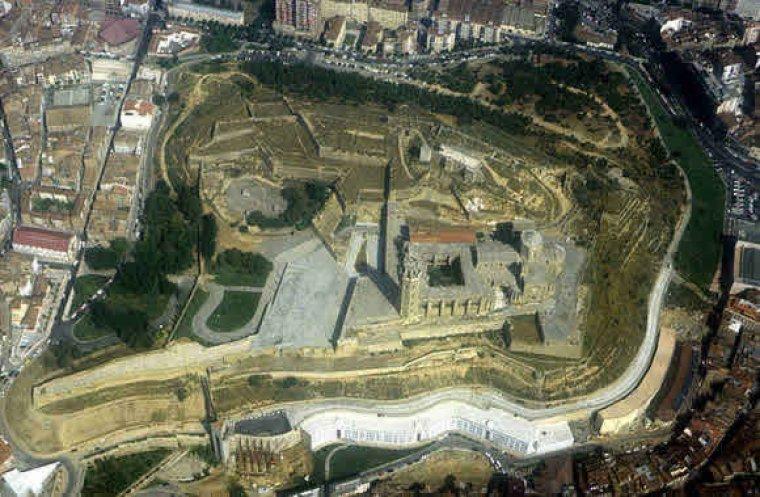 Vista aèria del Turó de la Seu Vella de Lleida