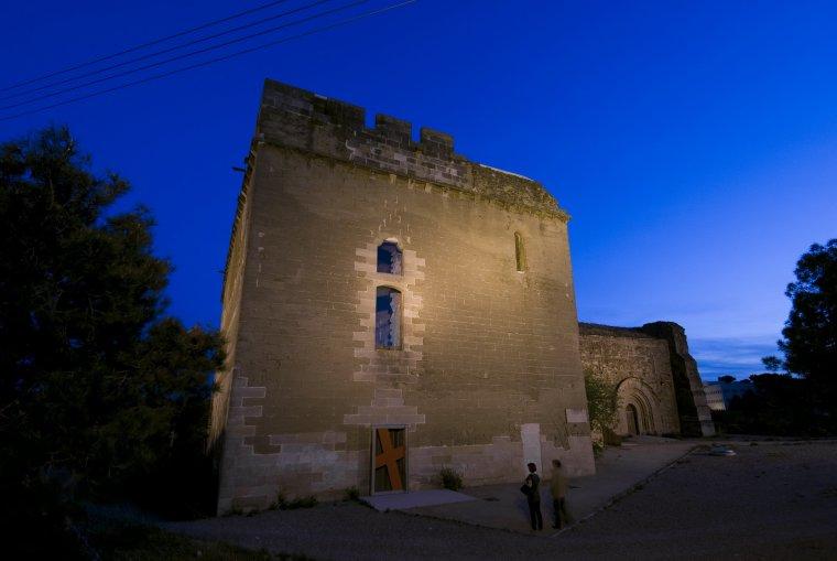 Imatge nocturna del Castell dels Templers