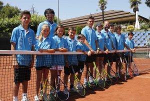 Imatge del grup de la selecció lleidatana de tenis