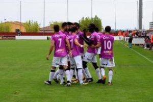El Lleida Esportiu després del gol a Peralada