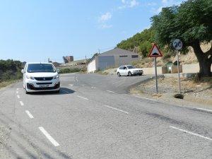 Imatge de la nova senyalització viària del vial d'enllaç entre Almenar i l'A-14.