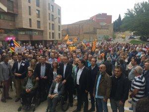Imatge de la porta dels jutjats de Lleida