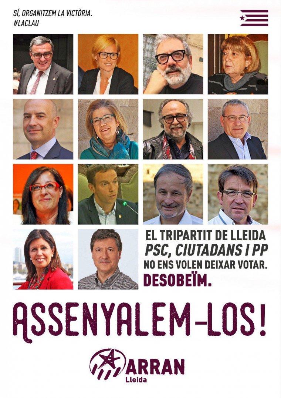 Cartell difós per Arran Lleida a les xarxes socials.