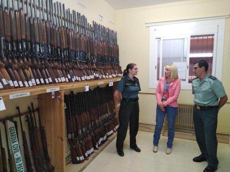Imatge de les armes de foc exposades a Lleida
