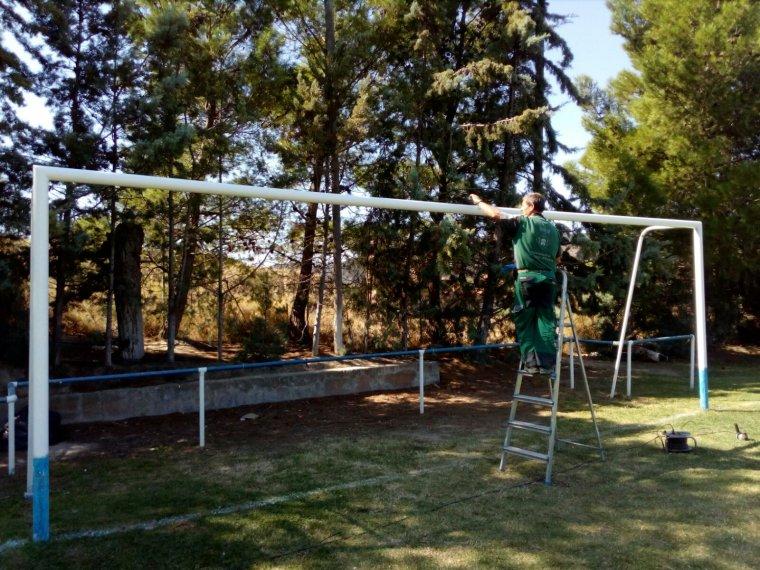 Imatge del camp de futbol de la Granja d'Escarp
