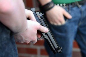 Imatge d'arxiu d'una pistola