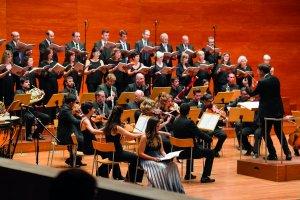Imatge de l'actuació a l'auditori Enric Granados de Lleida