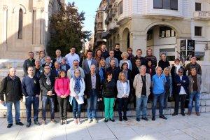 Representants de les organitzacions i col·lectius que integren la Taula per la Democràcia de Lleida