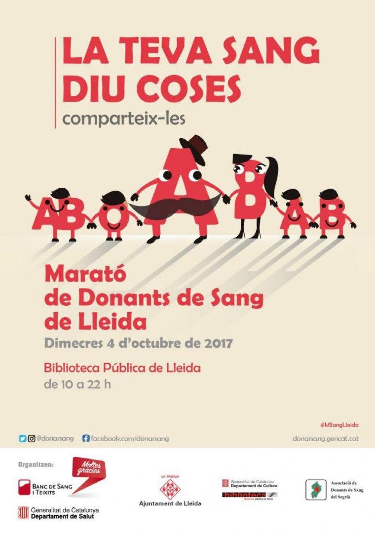 Cartell de la Marató de Sang de Lleida.