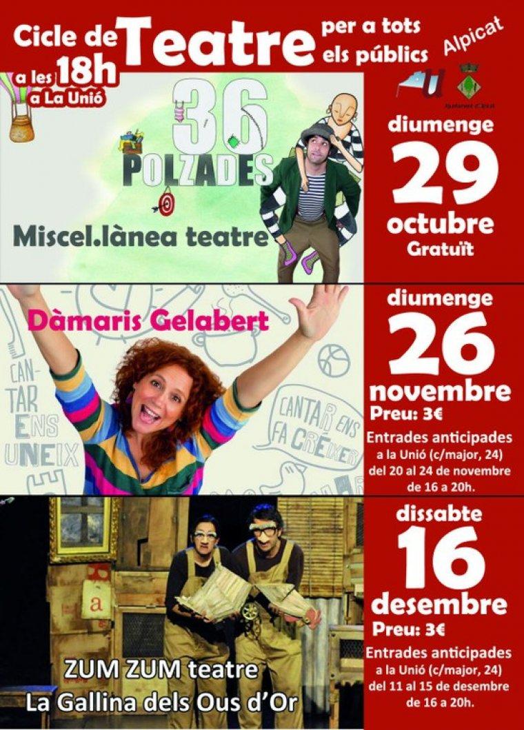 Cartell del Cicle de Teatre d'Alpicat.