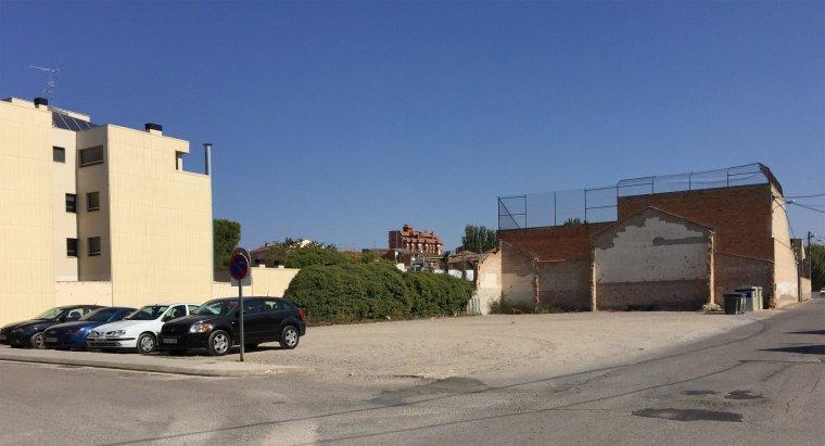 El solar on s'ubicarà el nou teatre de les Borges Blanques