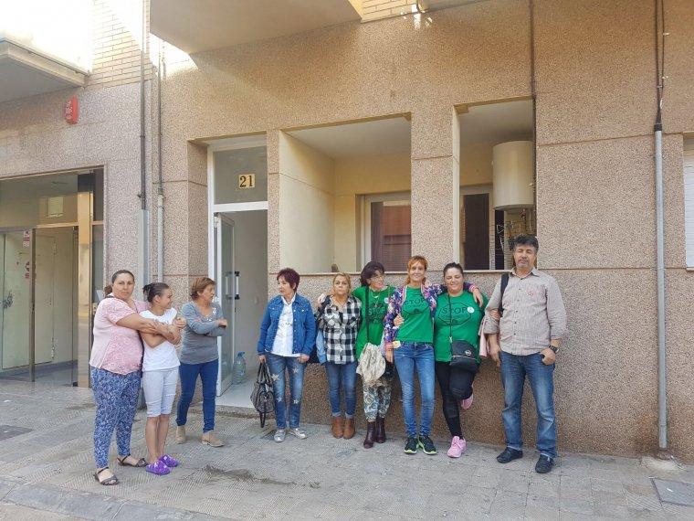Imatge d'alguns dels veïns afectats a la Noguera