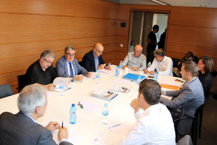 Imatge de la reunió del consell d'administració del Parc Científic de Lleida