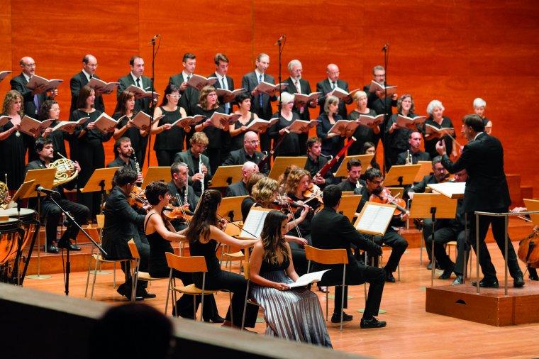 Imatge del concert de cloenda de Lleida, a l'Auditori Enric Granados