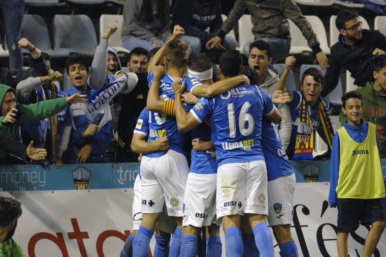 Imatge del Lleida Esportiu contra el Cornellà