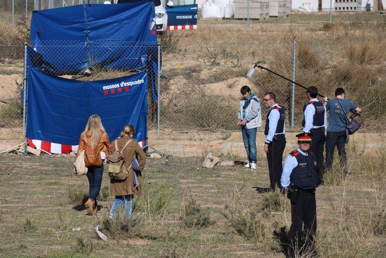L'atracador detingut pels Mossos durant la reconstrucció de la persecució mortal. Imatge del 31 d'octubre del 2017