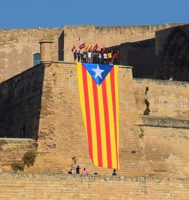 L'estelada, a la Seu Vella de Lleida.
