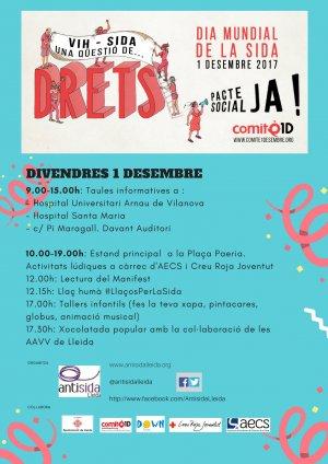 Cartell dels actes programats a Lleida
