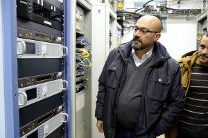 El director de Catalunya Ràdio, Saül Gordillo, al centre emissor de Catalunya Ràdio a Tornafort, al Pallars Sobirà