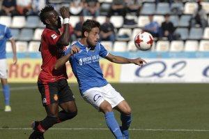 Imatge del partit del Lleida Esportiu contra el Mallorca