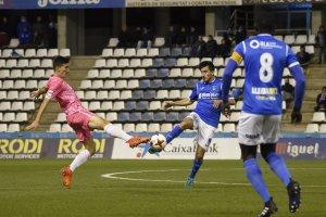 Imatge del partit del Lleida Esportiu contra l'Hércules