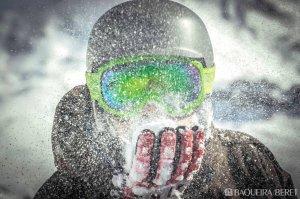 Imatge d'un esquiador a Baqueira Beret.