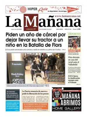 La Manyana, dia 25 de novembre