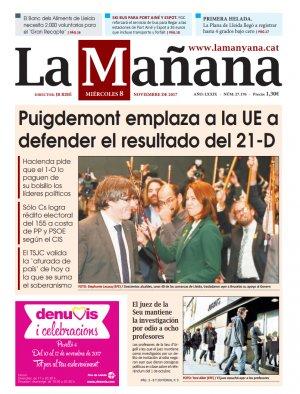 La Manyana, dia 8 de novembre