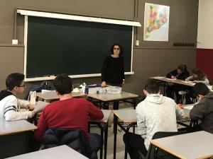 Un dels tallers per a adolescents asmàtics duts a terme pels professionals de pediatria del CAP Les Borges Blanques
