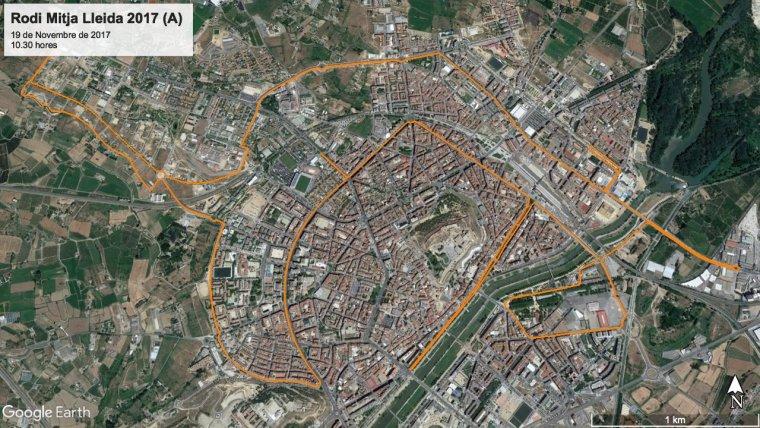 Imatge de la mitja marató de Lleida