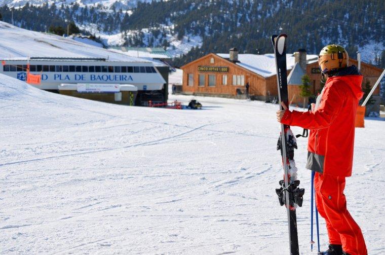 Imatge d'un esquiador a Baqueira Beret